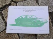 Betriebsanleitung Tatra 613 -3 V8