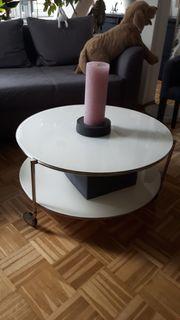 runden Tisch weiß