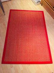 Schöner Sisalteppich rot braun 188x129