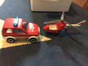 Playmobil Feuerwehr Hubschrauber und Auto