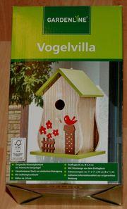 NEU - Buntes Vogel-Haus-Villa - Vogel-Häuschen - 28 cm