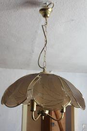 Deckenlampe golden mit Glasscheiben diese