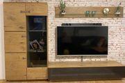 Wohnwand Hochglanz mit LED
