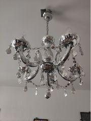 Kronleuchter Lampe Deckenlampe - silber