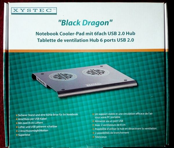 Notebook Cooler pad Xystec Black