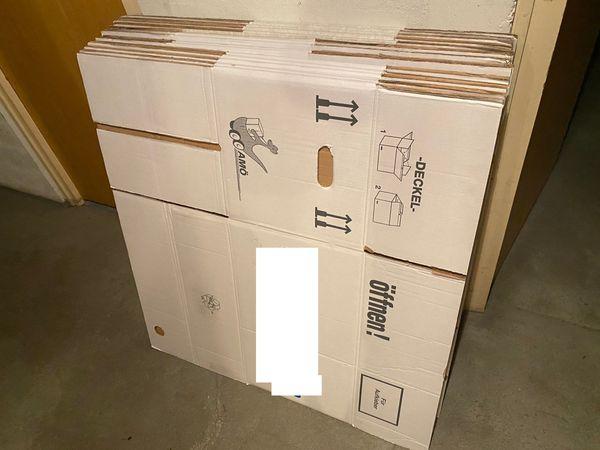 15x Umzugskartons ca 60x35x33cm 1x
