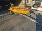 Holzboot Trailer Motorboot Gleiter Honda