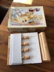 Massives Käsebrett mit Glasplatte