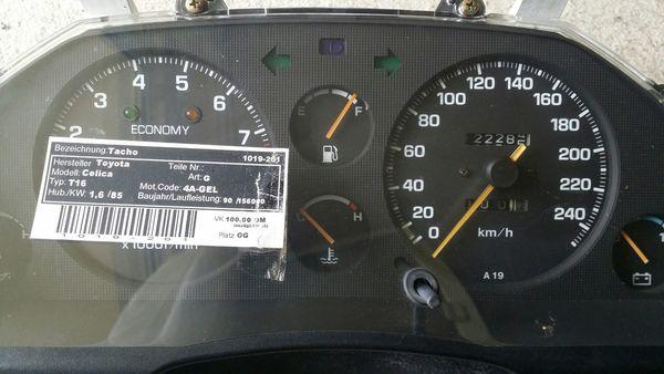 Toyota Celica Tacho Meter 1