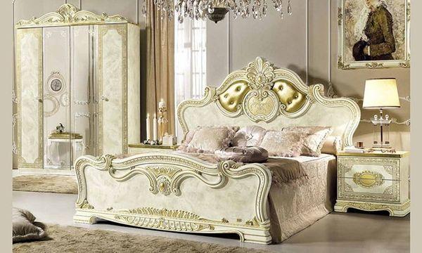 Schlafzimmer-Set Leonardo Komplett Hochglanz Barockstil ...