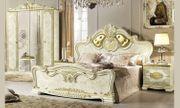Schlafzimmer-Set Leonardo Komplett Hochglanz Barockstil