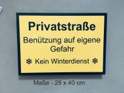 Privatstraße - Hinweisschild