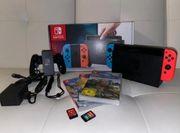Verkaufe neuwertige Nintendo Switch mit