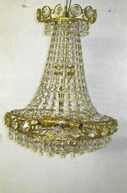 Lampe 6 flammig aus Bleikristall