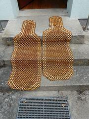 Sitzauflagen aus Holzperlen gebraucht
