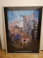 Hundertwasser Poster inkl Rahmen