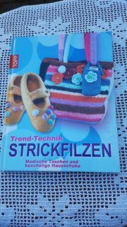 Neuwertiges modernes Kreativbuch Trend-Technik Strickfilzen