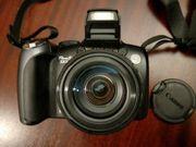 Wir geben eine Canon Kamera