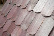 Alte Dachziegel Ziegel Biberschwanzziegel glasiert