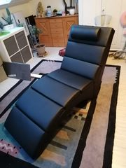 Verkaufe moderne Liege Sessel schwarz
