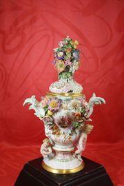 Meissen Schwertermarke Potpourri Vase Deckelvase