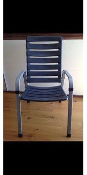 Gartenstühle 6 Stück mit Sitzauflagen