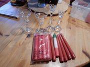 4 Kerzenständer für Spitzkerzen mit