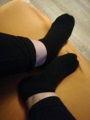 Fußbilder und Socken