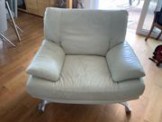 Leder Sofa Sessel zu verschenken