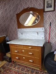 Kommode Marmor Waschtisch Spiegelkommode antik