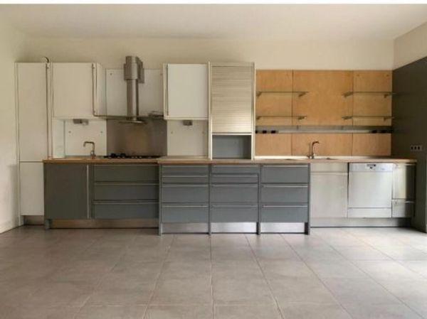 Hochwertige Küche Zeile+Hochschränke System 25 Grau, Weiß, Edelstahl ...