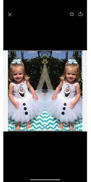 Mädchenkleid Olaf von Elsa gr