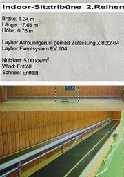 Indoor-Sitztribüne - 2 Reihen