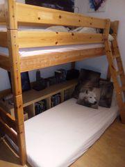 Hochbett Etagenbett Bett mit Schrägleiter