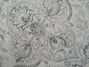 Runder Teppich weiß hellblau
