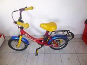 Kinder Fahrrad rot Helm Bobbycar