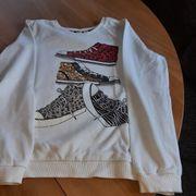 Neuwertiges Sweatshirt weiß Pailetten Größe