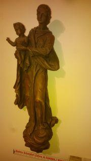 Marienfigur-Holz-Wandaufhängung ca 46 cm hoch