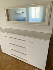 Wohnzimmer Sideboard in Weiß Hochglanz