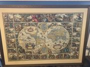 Historische Weltkarte ca 17 Jahrhundert