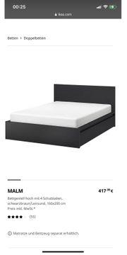 Ikea Doppelbett mit Matratze und