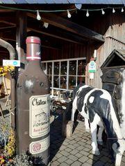 Werbeaufsteller Weinflasche Litfaß Wein Werbung