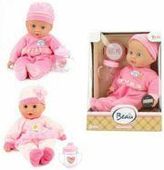 Babypuppe Puppe 30cm Weichkörper mit Fläschchen