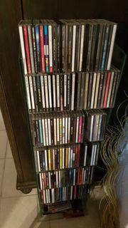CD Sammlung mit Glasständer