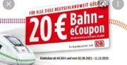 Bahn 20EUR ecoupon 20 Euro
