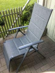 2 Gartenstühle antrazit zu verkaufen