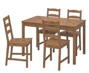 Tischgruppe mit 4 Stühlen Vollholz
