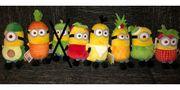 Minions Frische-Stars - knuffige Plüsch Minions- Obst