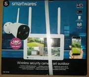 Smarktwares Outdoor Überwachungskamera mit Monitor