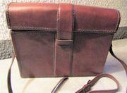 Schöne alte Leder - Umhängetasche vintage